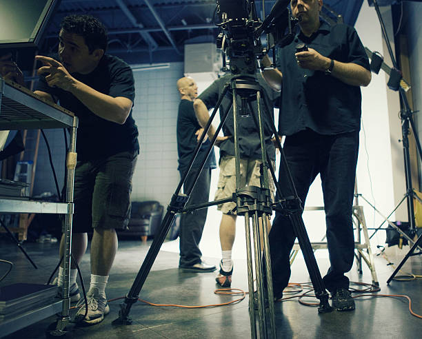 Busy Film Set stock photo