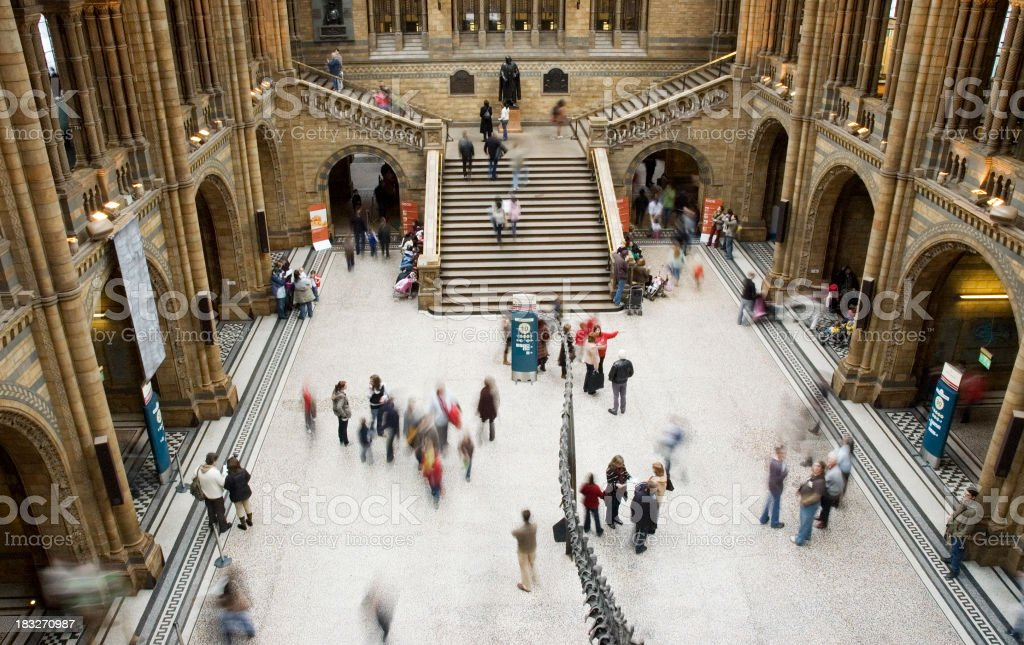 Busy foyer royalty-free stock photo