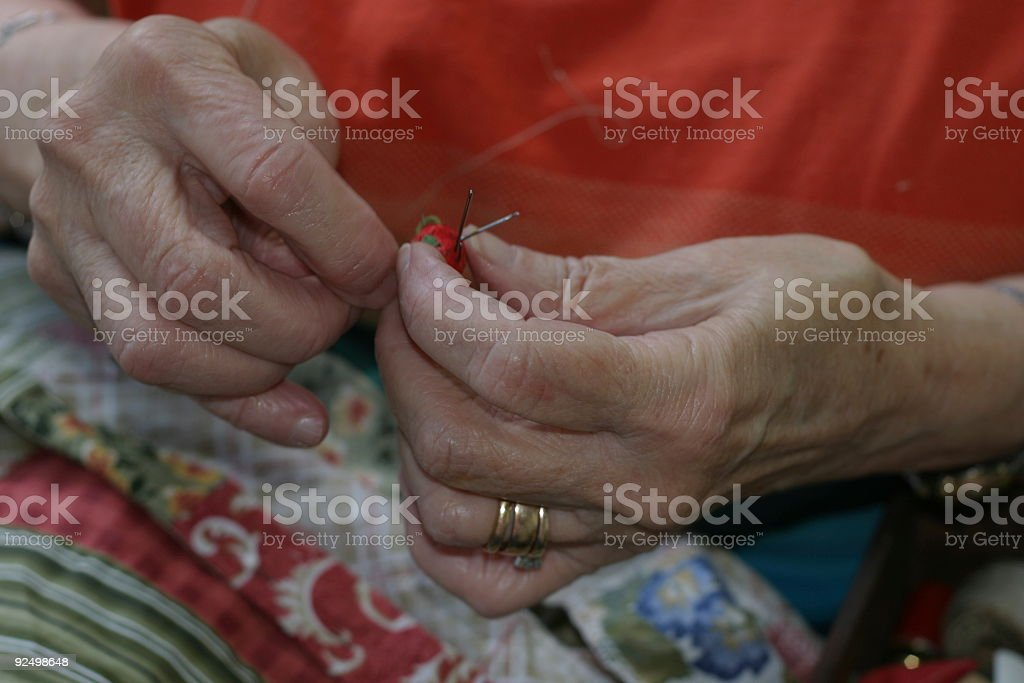 Busy hands royalty-free stock photo