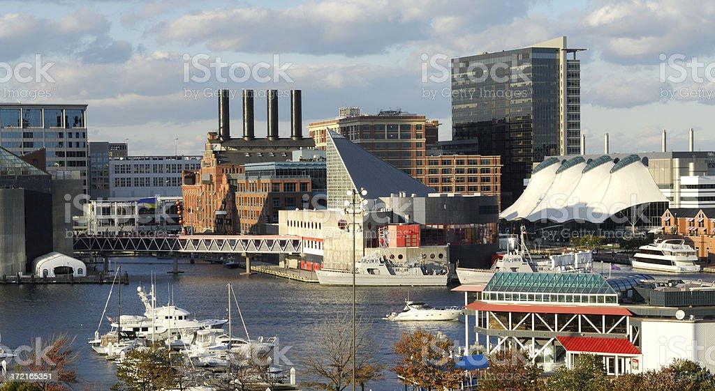 Busy Harbor stock photo