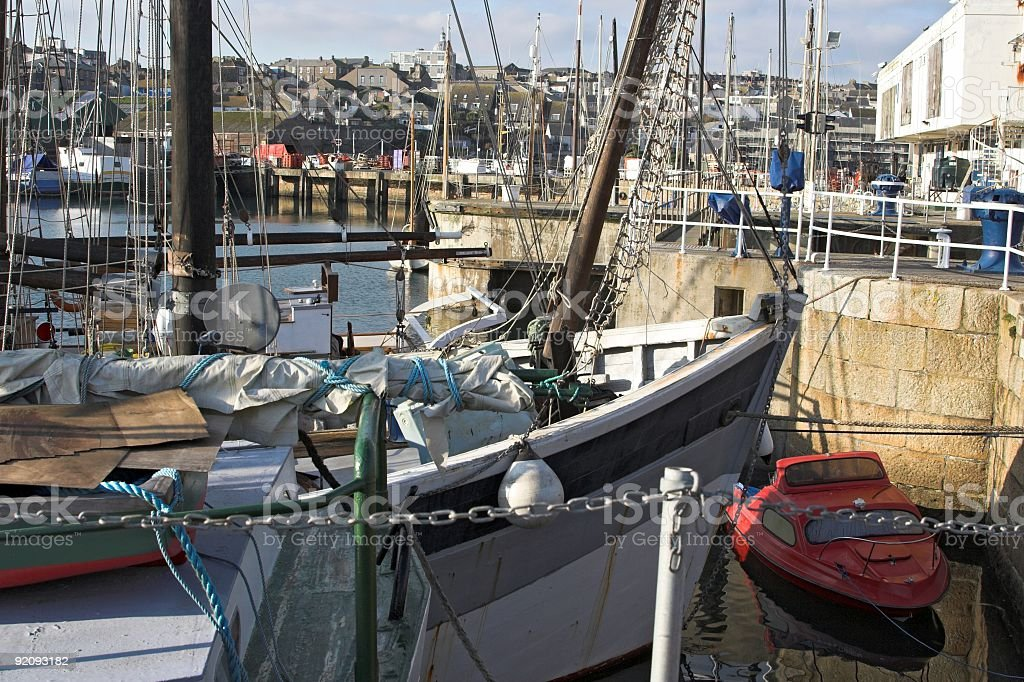 Busy Harbour royalty-free stock photo