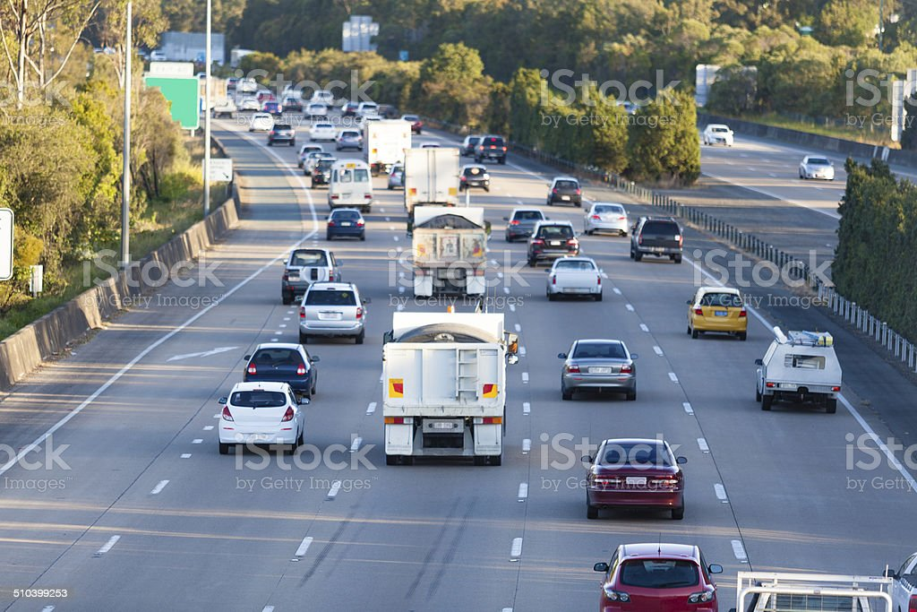 Busy highway stock photo