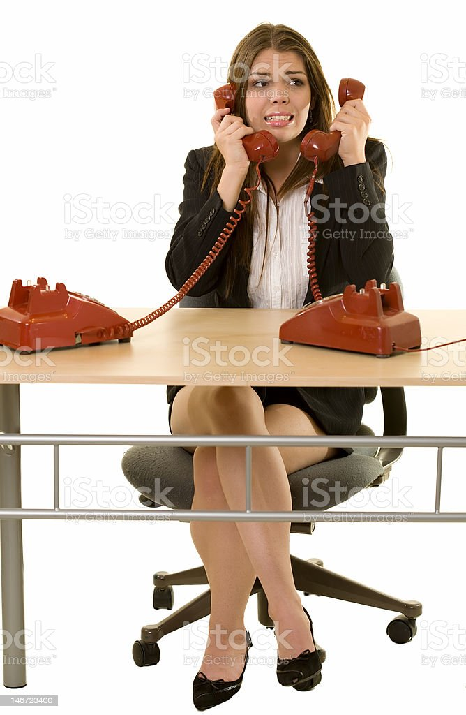 Busy hot line royalty-free stock photo