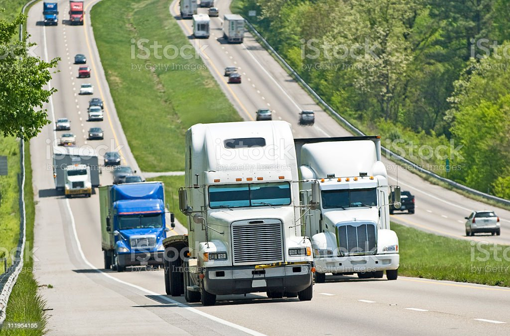 Busy Interstate Traffic stock photo
