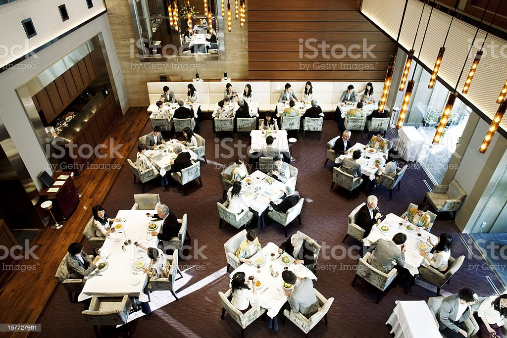 Busy Japanese Restaurant stock photo