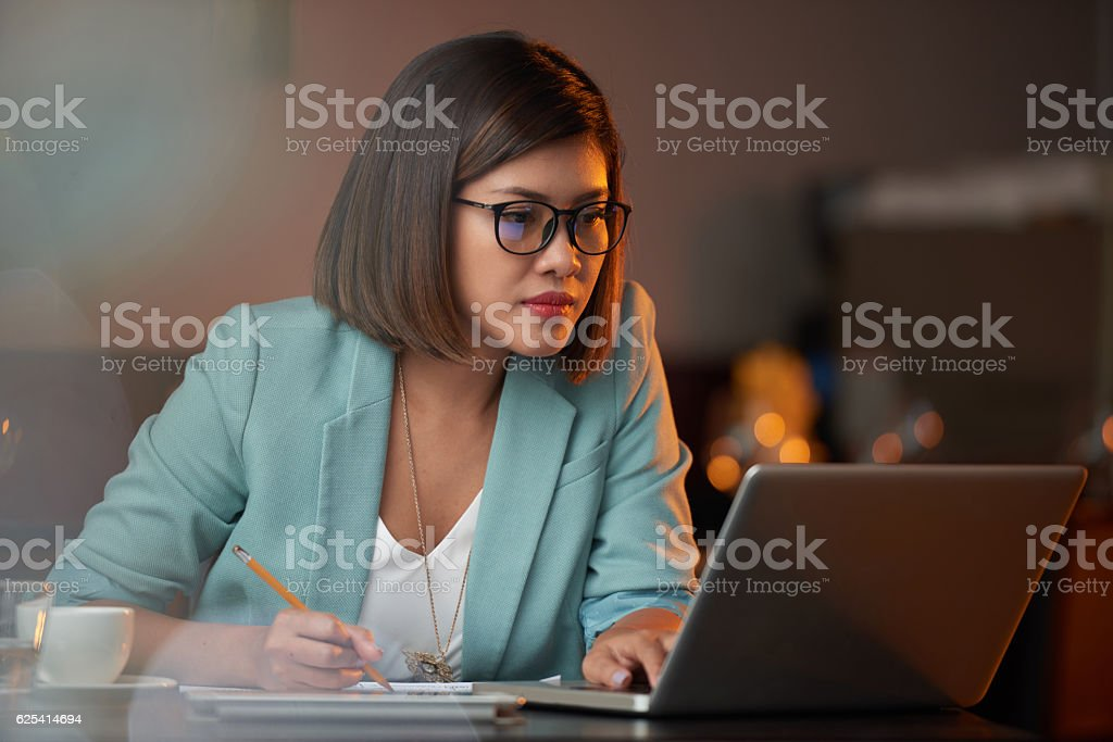 Busy lady stock photo