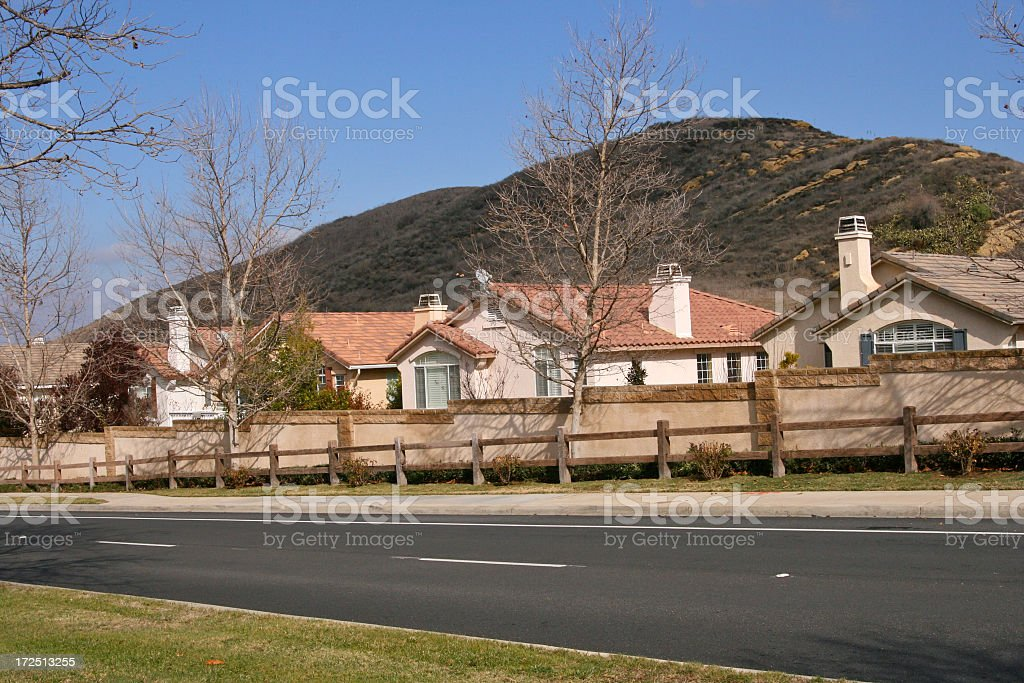 Busy Lane Subdivision royalty-free stock photo