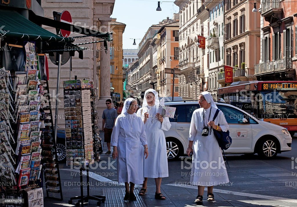 Busy Life in Rome royalty-free stock photo