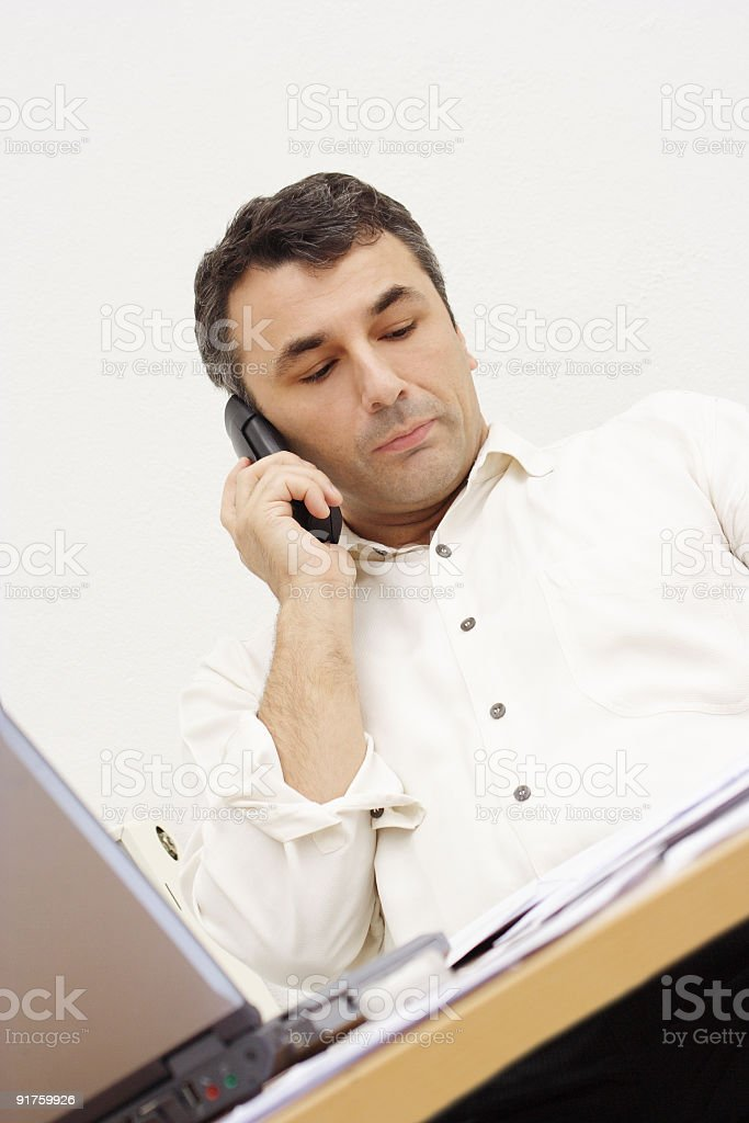 Busy man royalty-free stock photo