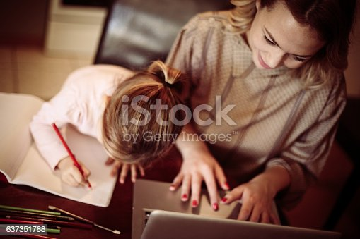 istock Busy mom. 637351768