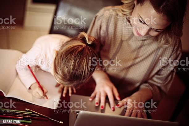 Busy Mom Stock Photo - Download Image Now