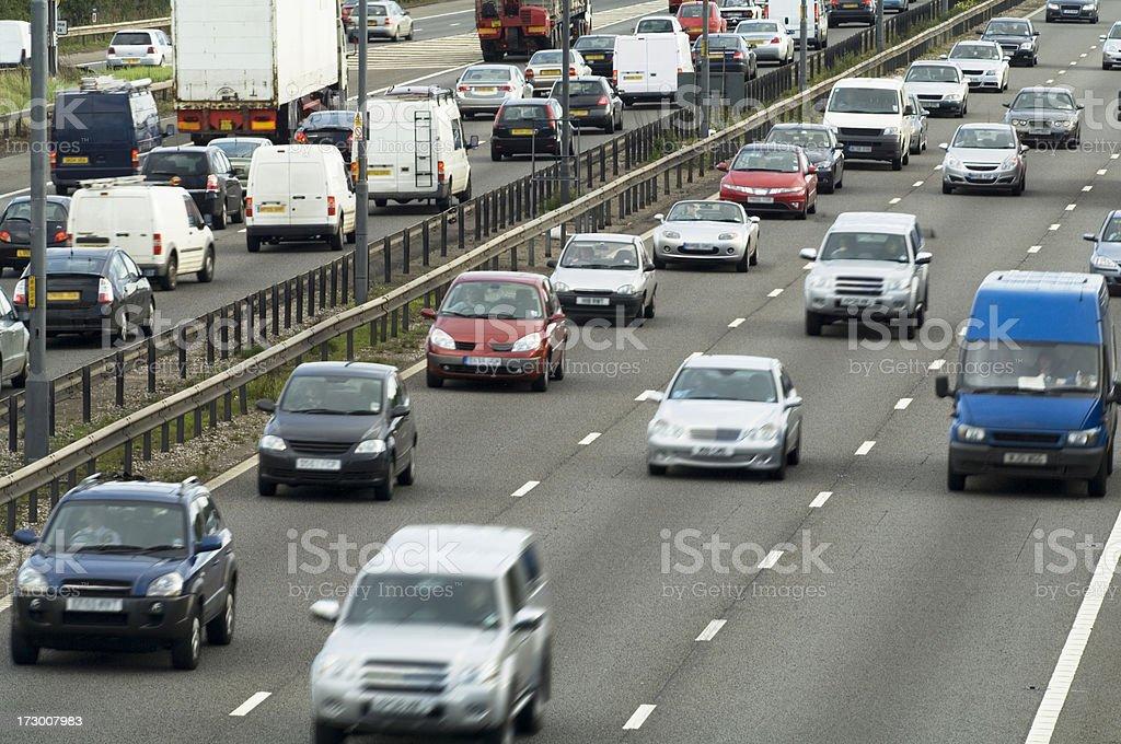 Busy motorway M6 stock photo