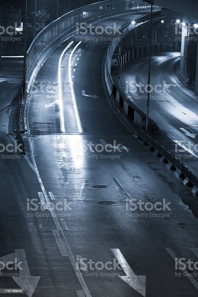 busy night traffic royalty-free stock photo