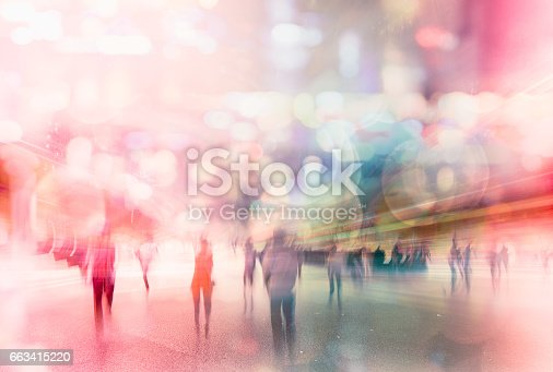 istock busy nightlife abstract in modern city 663415220