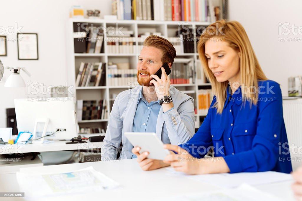 Busy office life royaltyfri bildbanksbilder