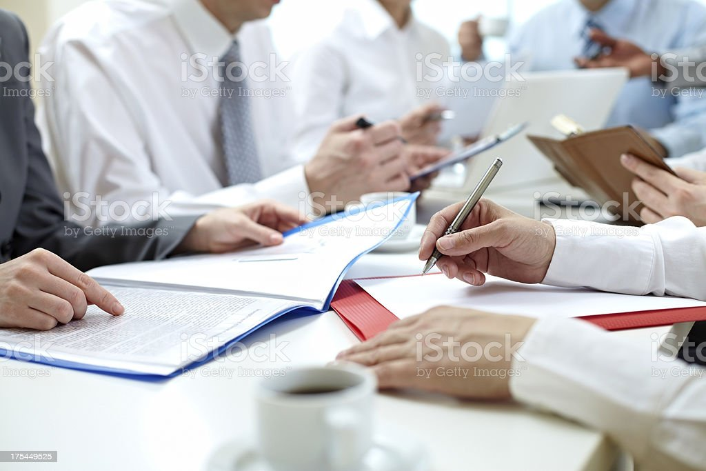 Busy office workers stock photo