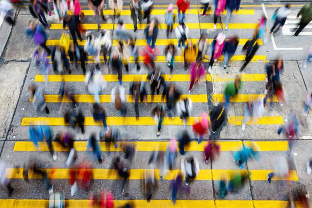 忙碌的行人過路處香港 - 人數 個照片及圖片檔