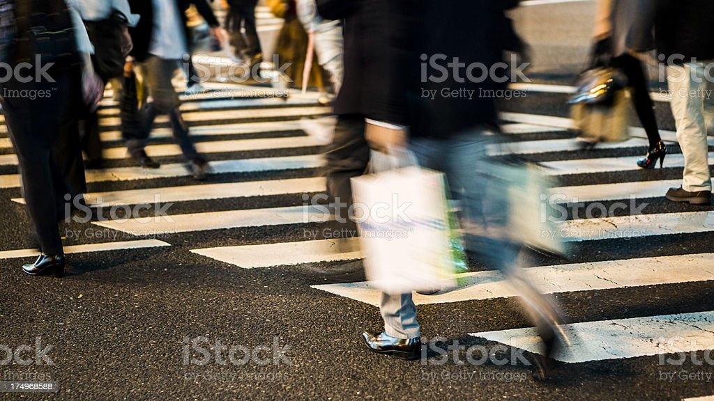 Busy people royalty-free stock photo