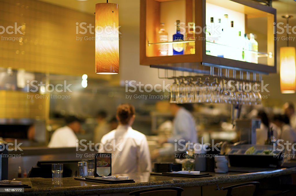 Busy Restaurant Kitchen royalty-free stock photo