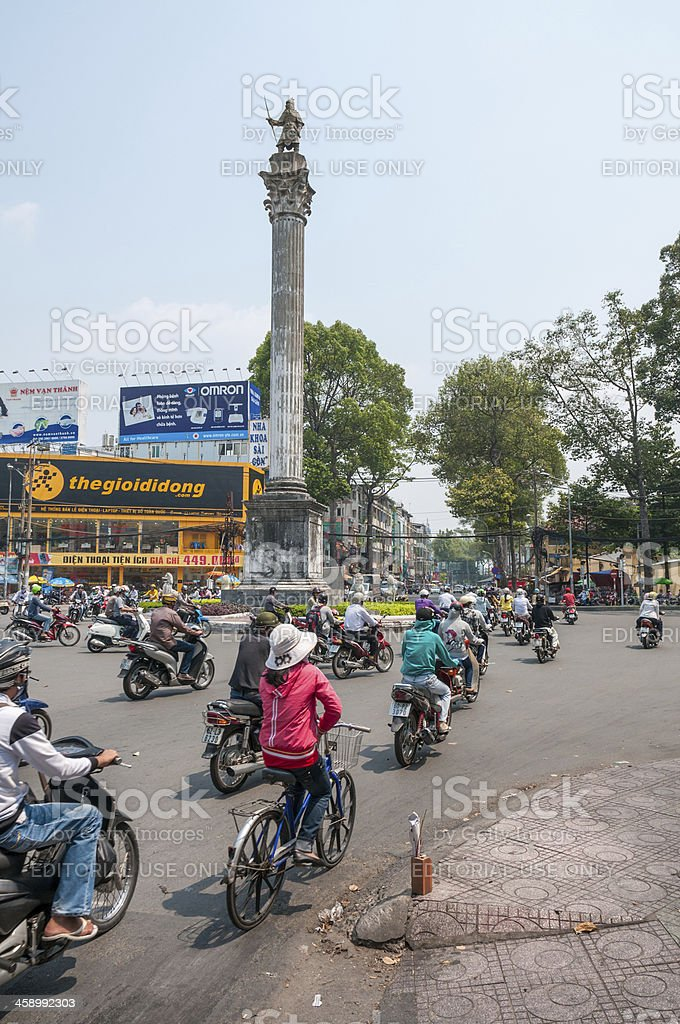 Busy Road Junction In Ho Chi Minh City, Vietnam stock photo