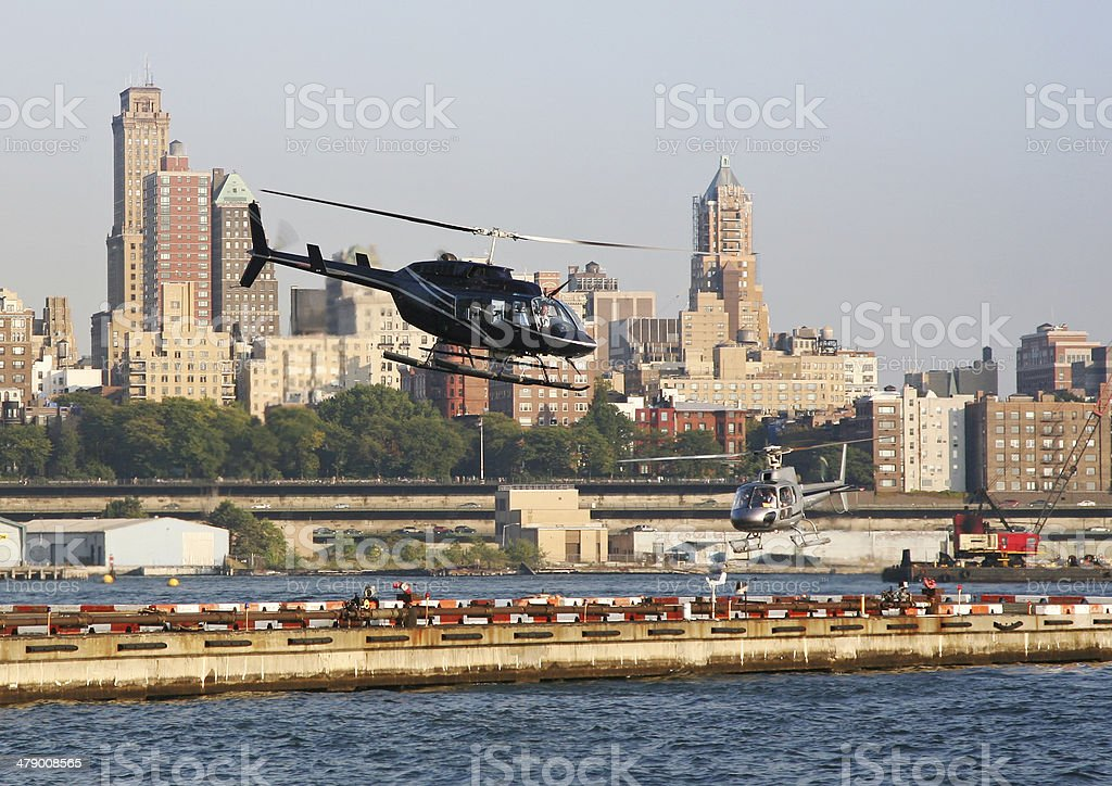 Busy Scene At City Heliport royalty-free stock photo