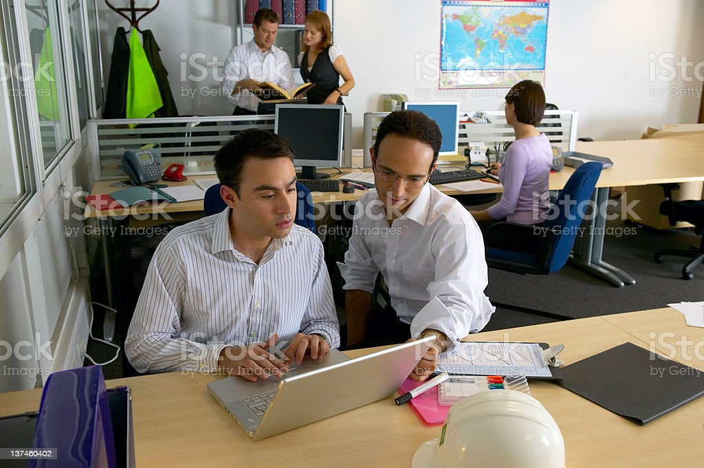 Busy Site Office royalty-free stock photo