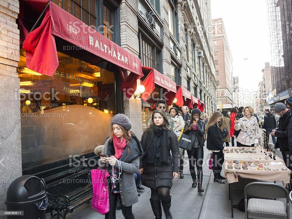 Busy Soho Street by Balthazar royalty-free stock photo