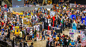 Busy stalls at Yorkshire Cosplay Convention