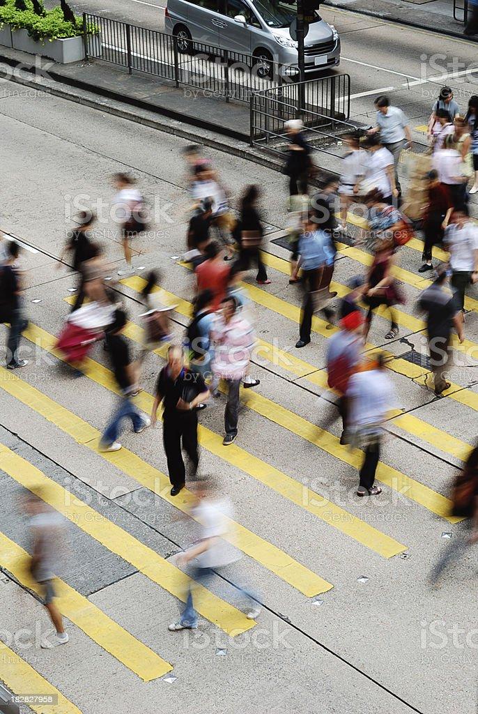 Busy Street Hong Kong royalty-free stock photo