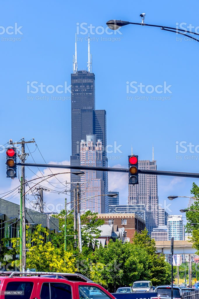 Busy street in Chicago foto royalty-free