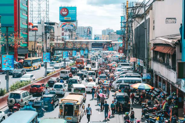 Belebte Straße in Manila, Philippinen – Foto