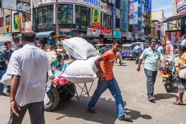 Geschäftige Straße in Pettah – Foto