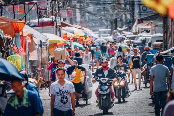 belebten Straßenmarkt in Manila, Philippinen – Foto