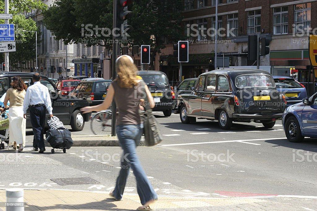 Busy street royalty-free stock photo