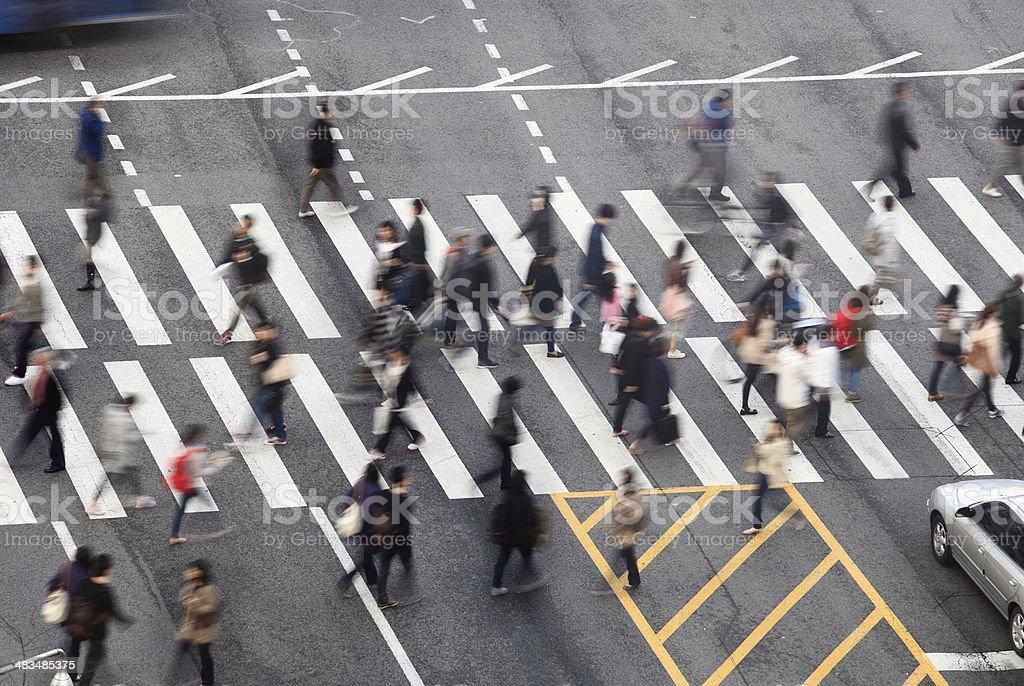 Busy Street stock photo
