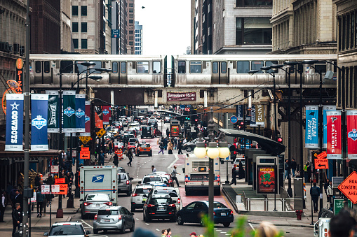 Busy streets of Chicago
