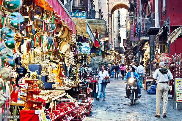Busy Streets Of Naples Stock Photo - Download Image Now