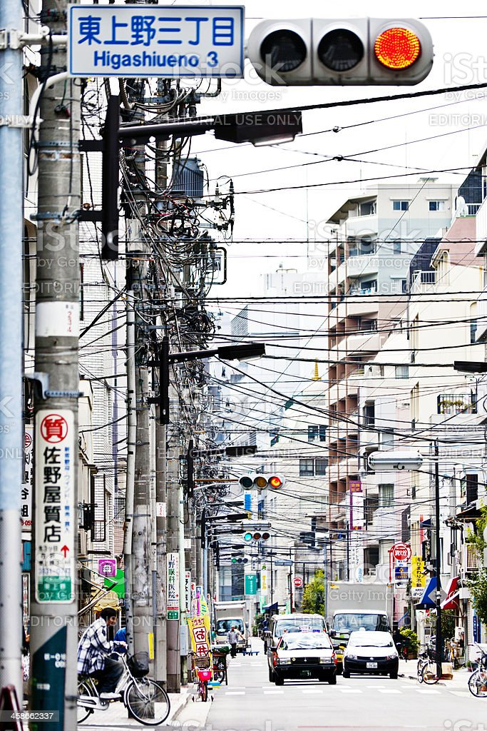 busy streets of Tokyo stock photo