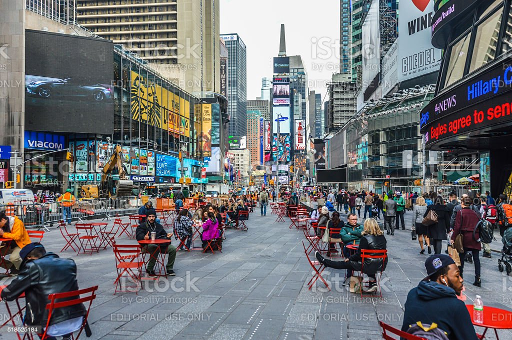 Busy Times Square - New York City stock photo