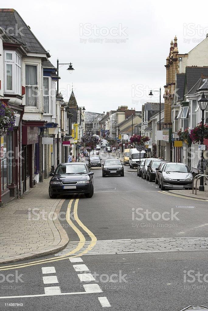 Busy Town - Trelowarren Street Camborne stock photo