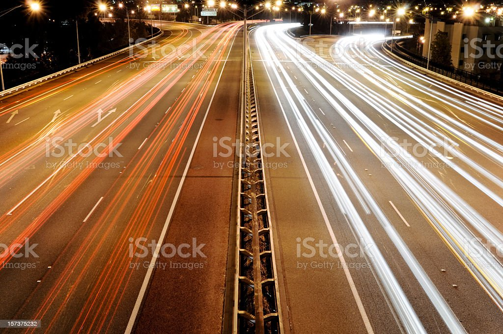 Busy Traffic at Night royalty-free stock photo