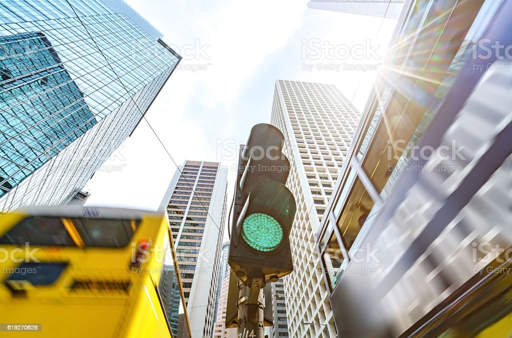 Busy traffic junctions stock photo