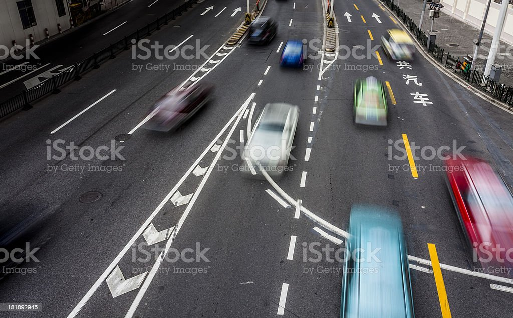 busy traffic royalty-free stock photo