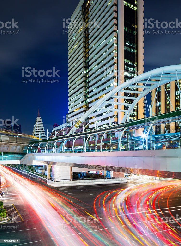 Busy traffic trail in Bangkok foto stock royalty-free