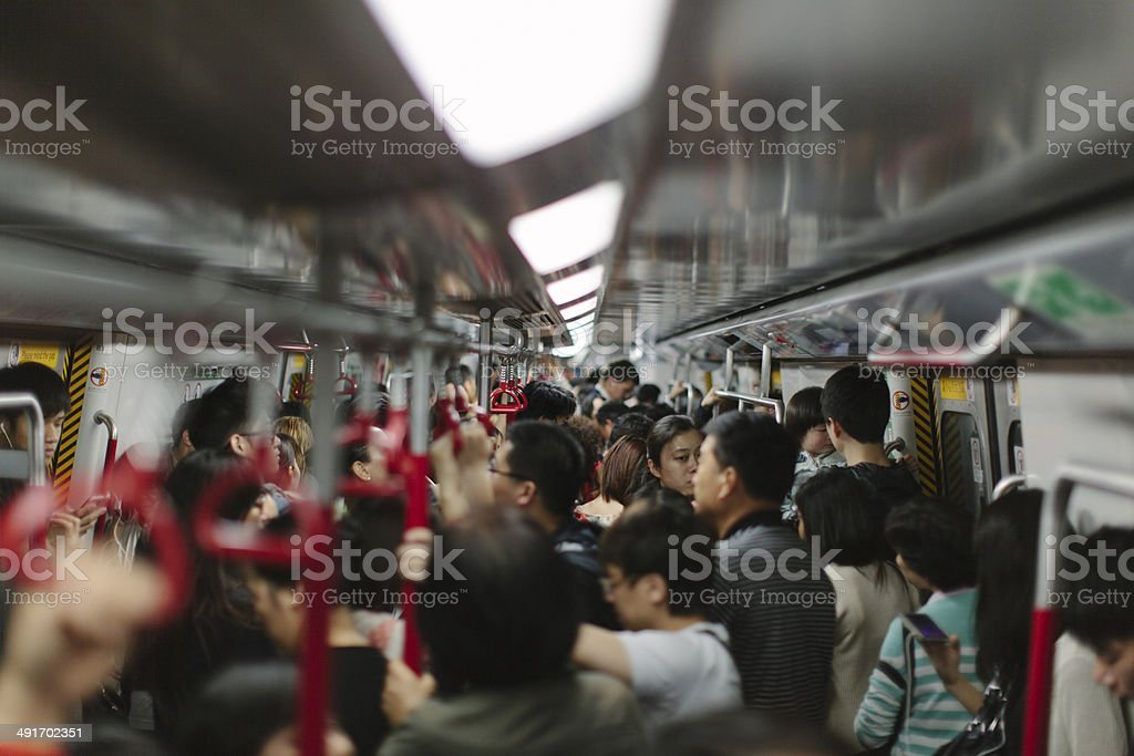 Busy Train stock photo