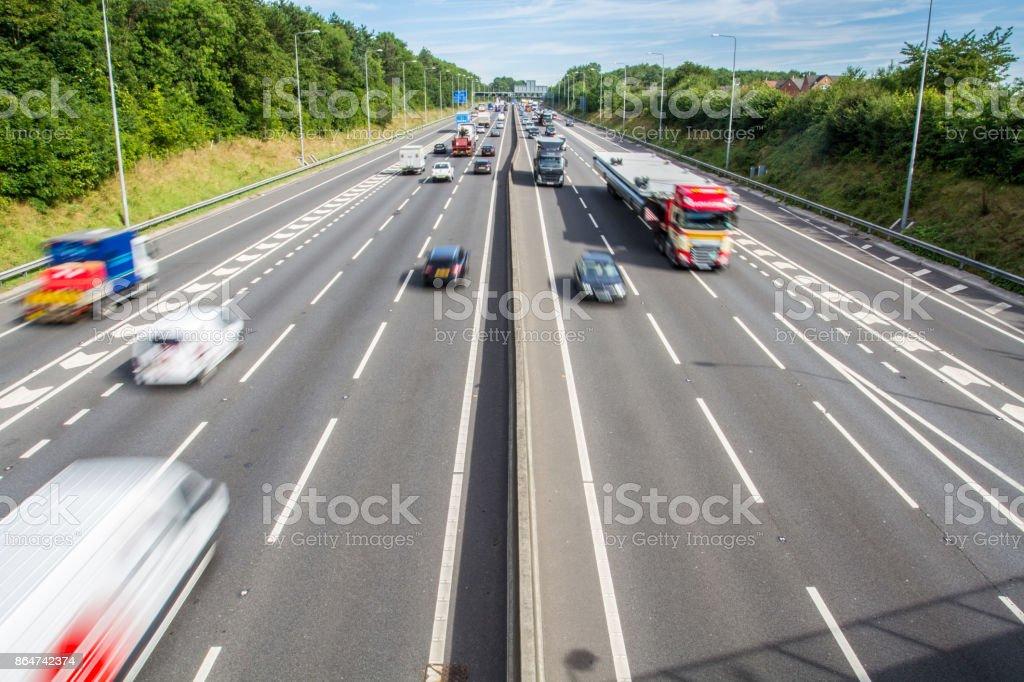 Autoroute britannique occupé - Photo