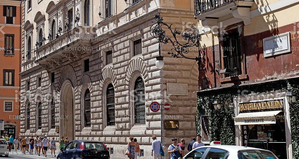 Busy Via del Corso royalty-free stock photo