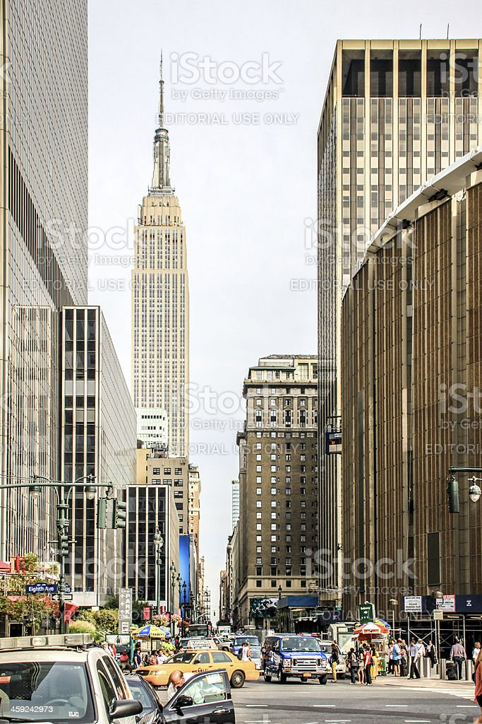 Busy W 33rd Street, New York stock photo