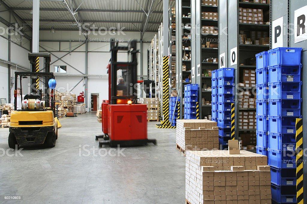 Busy warehouse stock photo