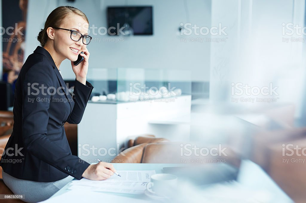 Busy white collar worker foto royalty-free